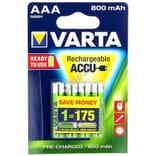 Accu ni-mh lr3/aaa 1,2v 800 mah par 4