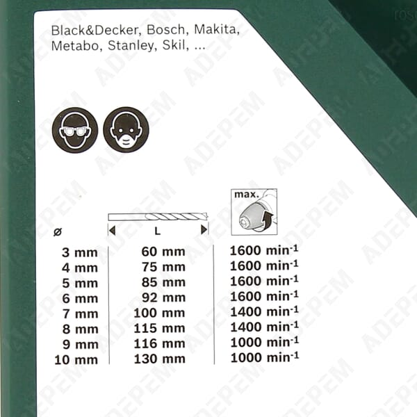 Set 8 meches a bois 3 a 10 mm - 2