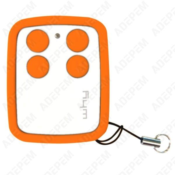 Telecommande universelle 4 canaux orange 168170 adepem - Changer telecommande orange ...