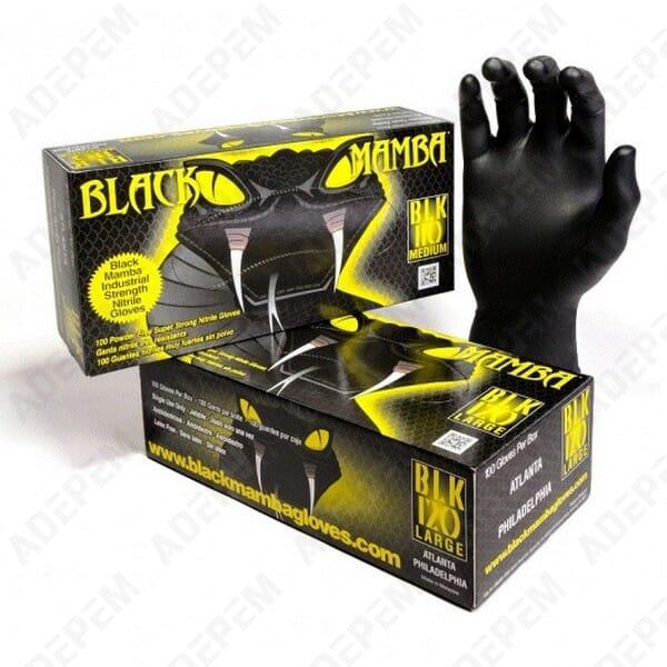 Gants black mamba xl (t9/10) par 100 + APPAREIL