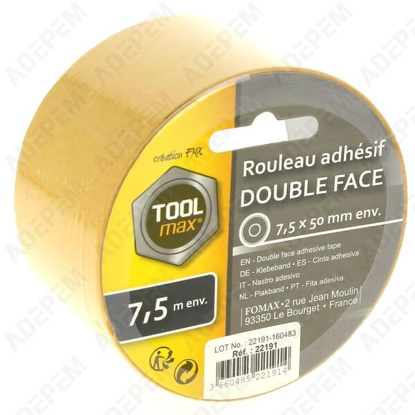 ruban adhesif double face 7 5m 178505 adepem. Black Bedroom Furniture Sets. Home Design Ideas