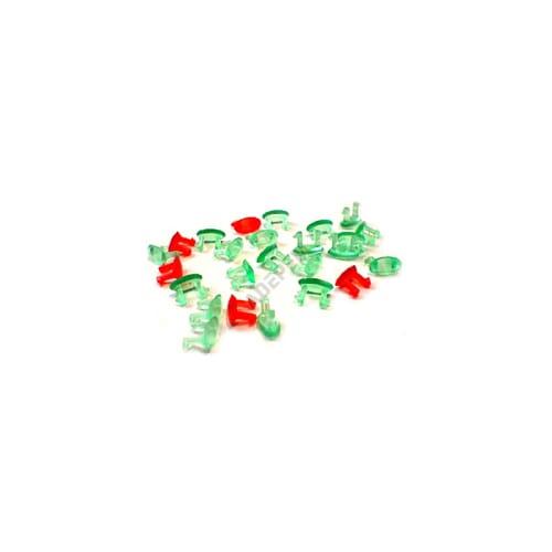 Capots verts et rouges