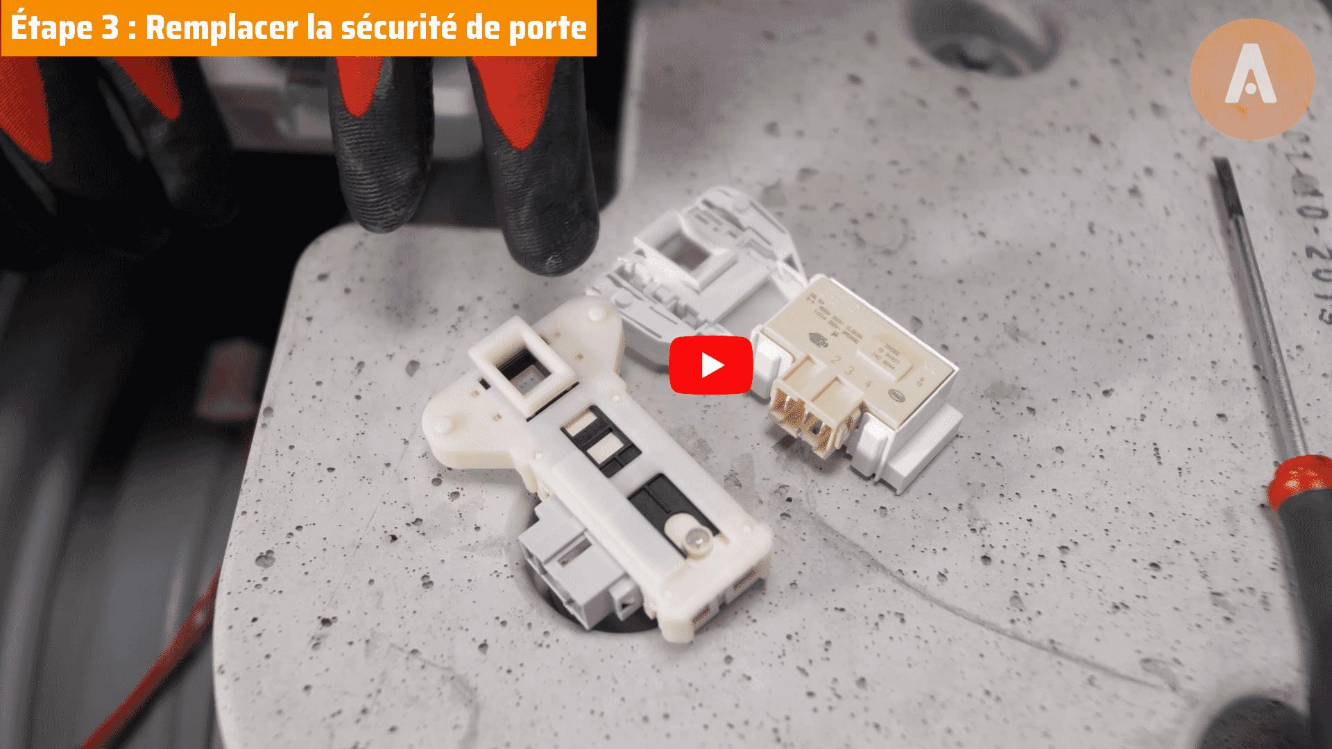 Tutoriel vidéo : comment changer la sécurité de porte d'un lave-linge ?