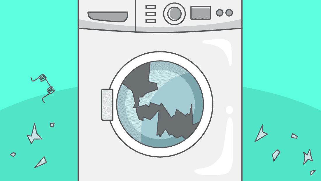 Comment remplacer ou réparer la porte de mon lave-linge ?