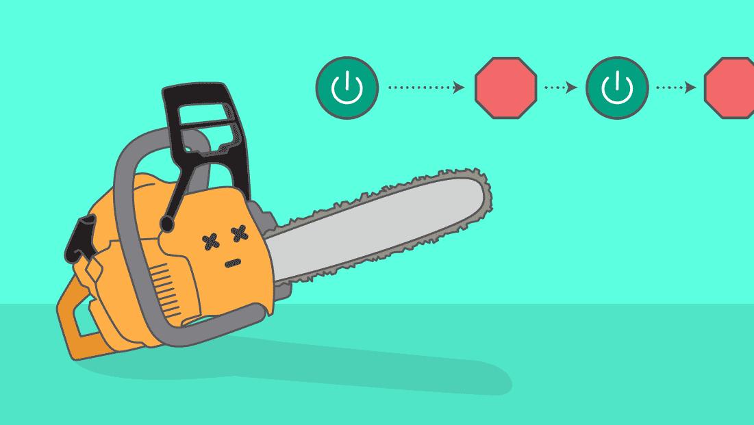 Comment réparer une tronçonneuse qui ne démarre pas ou cale à l'accélération ?