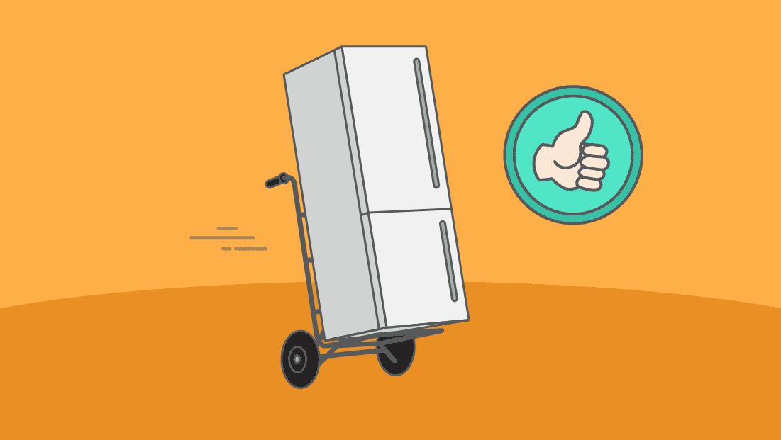 Comment transporter un frigo sans l'abîmer ?