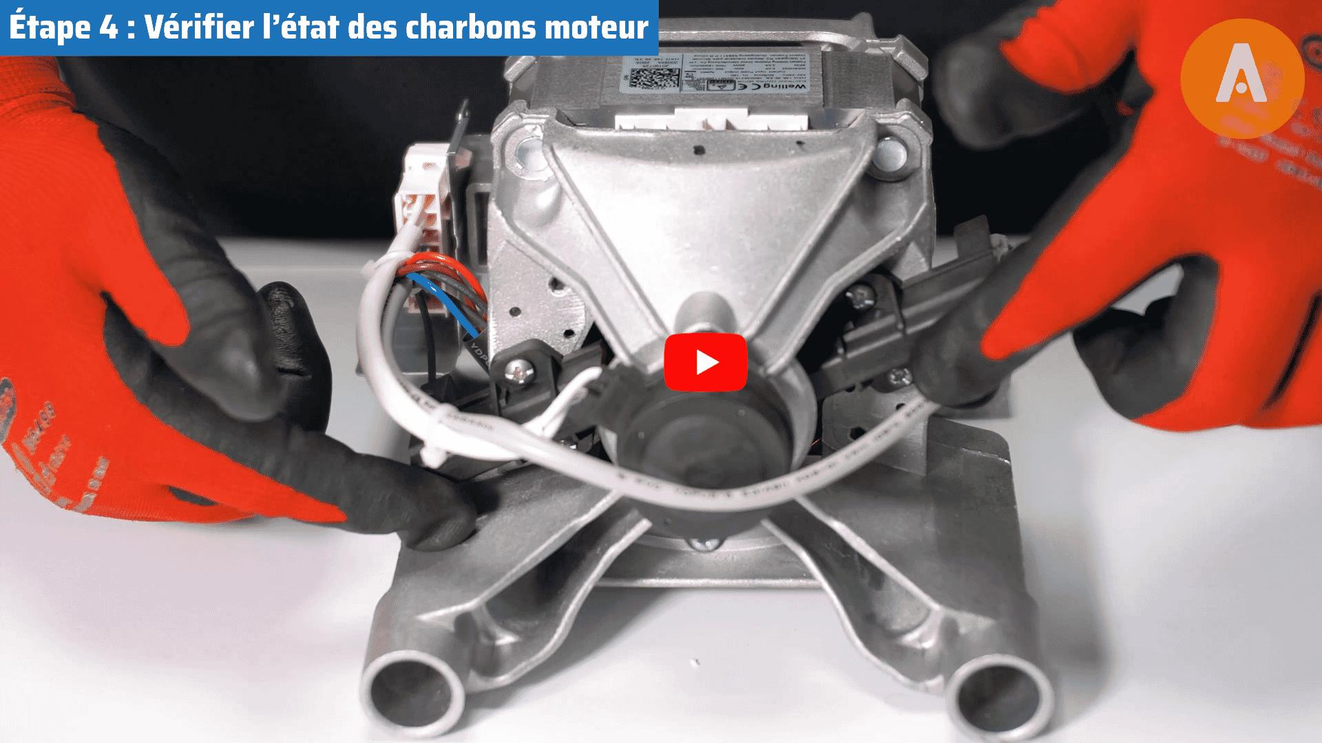 Tutoriel vidéo : comment changer le moteur et les charbons de moteur de mon lave-linge ?