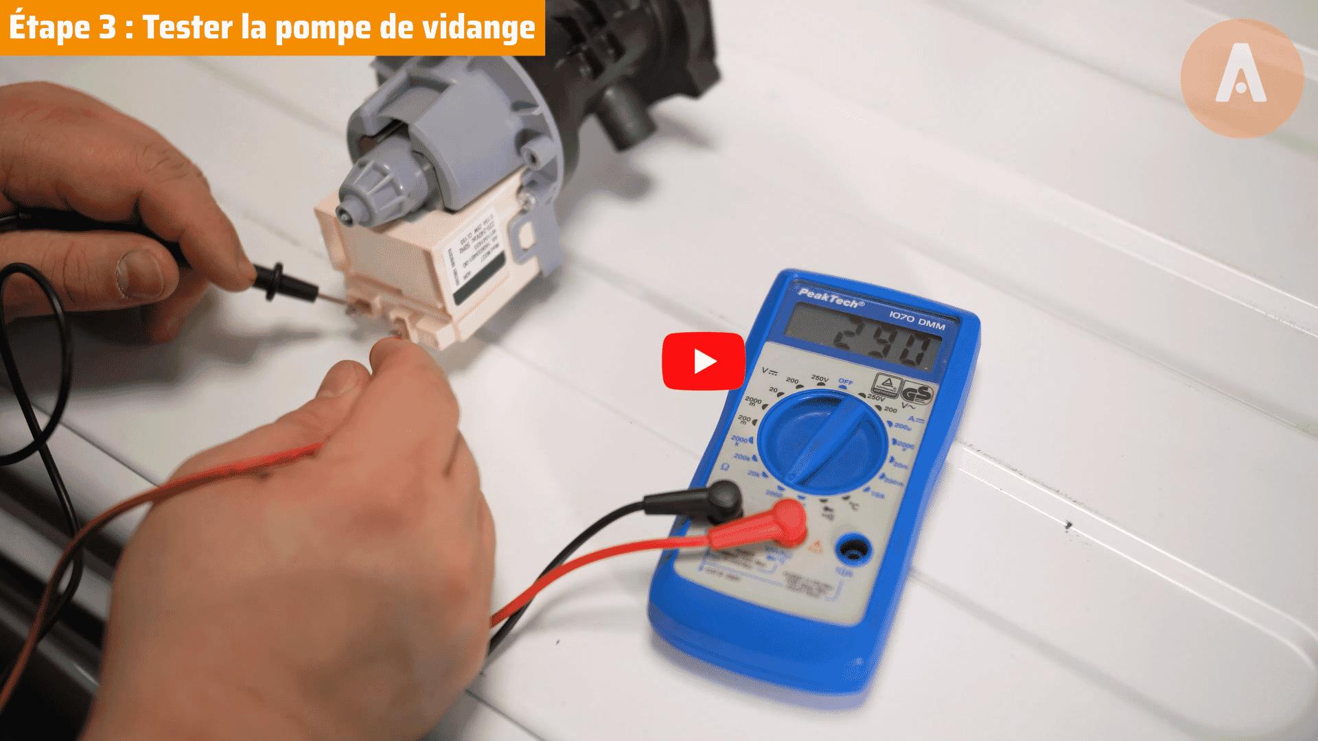 Tutoriel vidéo : comment tester et changer la pompe de vidange d'un lave-linge ?
